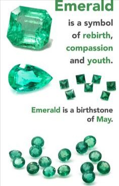 As the birthstone for May the emerald a symbol of rebirth is believed to grant the owner foresight good fortune and youth. Emerald derived from the word smaragdus means quite literally green in Greek. Emerald Gemstone, Gemstone Colors, Gemstone Jewelry, Reiki Stones, Crystal Healing Stones, Crystals And Gemstones, Stones And Crystals, Gem Stones, Natural Gemstones