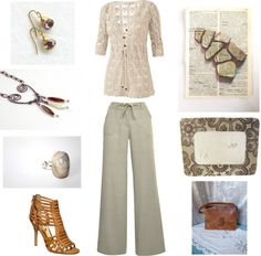 """""""Neutral About Spring"""" by theknottyneedle ❤ liked on Polyvore"""