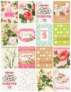 Valentines day cards. free printable