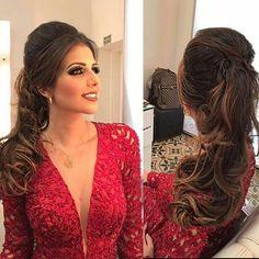 mais que linda ! ❤❤❤ #penteado #make #madrinha #vermelho #vestido #linda…