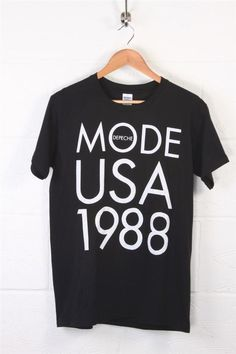 Gildan, black t shirt with high quality screen print of Depeche Mode US 1988 tour. A signature will sometimes be required. Colour..Black, white print. | eBay!