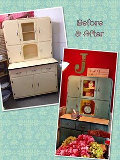 "Hoosier Cabinet makeover--I would leave it ""as found"" you?"