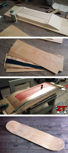 Fabrication d'une planche de skateboard DIY à partir d'un kit de presse sous vide Skateboard Diy, Skateboard Design, Woodworking Guide, Custom Woodworking, Bmx, Diy Cadeau Noel, Longboard Design, Skate Decks, Skate Ramp