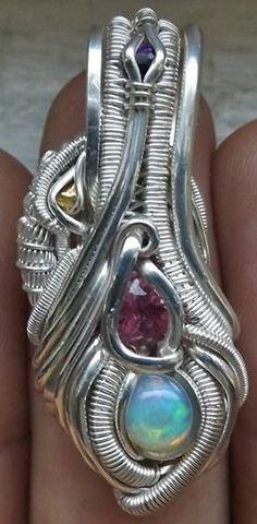 ©Chris Tofer #wirewrap #jewelry #wirewrapjewelry