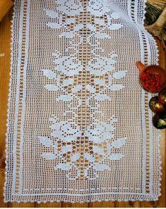 Thread Crochet, Filet Crochet, Crochet Hooks, Floral Tablecloth, Crochet Tablecloth, Lace Doilies, Crochet Doilies, Baby Knitting Patterns, Crochet Patterns