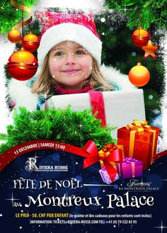 Flyer Fete de Noel Palace, Portfolio Design, Flyers, Christmas Ornaments, Holiday Decor, Party, Noel, Summer Kids, Christmas Parties