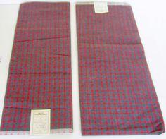 Vintage red grey plaid designer pre cut by nanascottagehouse, $24.95
