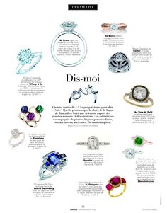 On the last issue of Dreams Magazine features de Grace's Desire engagement ring.