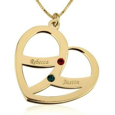Name Necklace ESHA 18ct Gold Plated Personalised Gifts Crystal High Quality