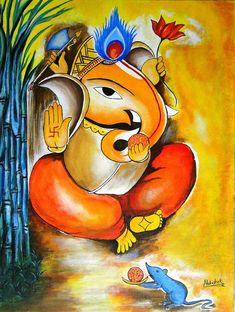 Latest HD Photos, images, HD wallpapers for mobiles # Ganesha Sketch, Ganesha Drawing, Lord Ganesha Paintings, Ganesha Art, Shri Ganesh, Peacock Wall Art, Simple Oil Painting, Shiva Art, Hindu Art