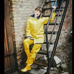 Pvc Raincoat, Yellow Raincoat, Rain Suit, Rain Gear, Bronze, Pvc Vinyl, Leather Pants, Women Wear, Suits