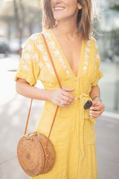 yellow free people dress for summer
