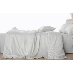#morning fog Grey linen duvet cover sure to help you wake up in a cool mood. Also available in #sheets. Custom make yours at superiorcustomlinens.com  #linenduvetcover #linenbedding #bedroomdesign #bedroomdecor #classic #homeSuperiorCustomLinens - Handmade Linen Bedding Baby Bedding and Home Decor.