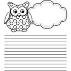This manuscript and lined writing paper is perfect for the owl-crazed teacher in all of us!Here are some of my other titles for the younger stude...