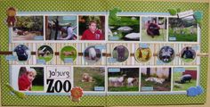 Great zoo scrapbook layout. Whole visit in a two page layout