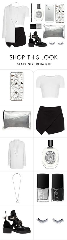 """""""light"""" by baludna ❤ liked on Polyvore featuring River Island, Topshop, AB A Brand Apart, Forever New, Givenchy, Diptyque, SELECTED, NARS Cosmetics, Balenciaga and Napoleon Perdis"""