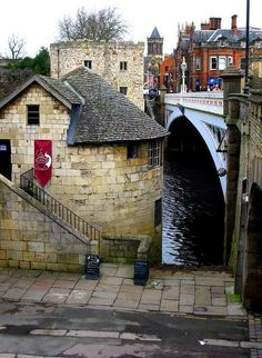 I've walked across this bridge. :) I love York, such a great city. Lendal Bridge in York, UK built by Thomas Page in 1863 Yorkshire England, Yorkshire Dales, North Yorkshire, York England, York Uk, London England, England And Scotland, England Ireland, Places Of Interest