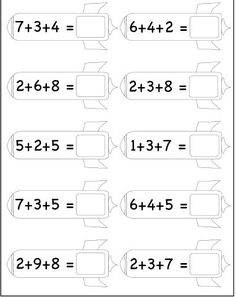 printable kindergarten worksheets free math for kids Letter Worksheets For Preschool, First Grade Math Worksheets, Free Kindergarten Worksheets, Printable Worksheets, Free Printable, Preschool Education, Preschool Math, Teaching Kids, Grammar For Kids