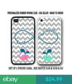 Other Cell Phones & Accs Grey Chevron Cute Mint Pink Whale Bff Best Friends Cases For Iphone 6 6S 5S C Se #ebay #Electronics