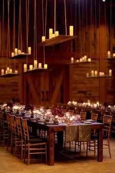 rustic barn wedding table setting ideas / http://www.deerpearlflowers.com/barn-wedding-reception-table-decoration/2/