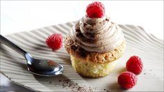 Ingefærmuffins med melkesjokoladekrem -