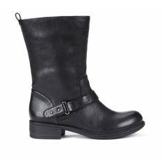 Aileen black  motorcycle boot