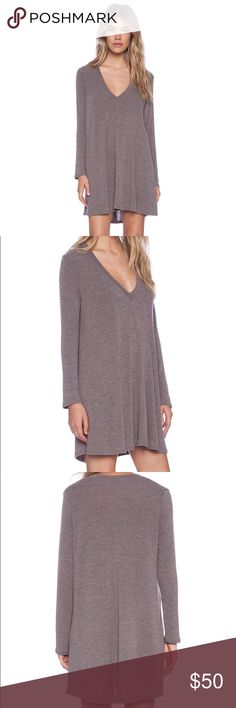 Riller & Fount Kevin Tunic WORN ONCE! Rib knit fabric; 32 inches shoulder seam to hem Riller & Fount Dresses Long Sleeve
