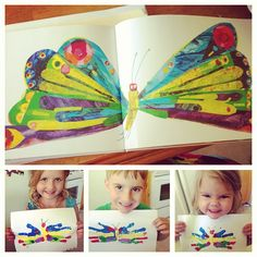 The Very Hungry Caterpillar Butterfly Handprints