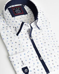 white Floral impression shirt