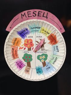 I saw this project on Pinterest, in English, to teach children months and seasons. I adapted it for the Serbian language. It really is pretty cool. We put it on our refrigerator and my kids are alw...