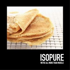 Protein crepes are easy and fun! You can fill them with something sweet, or go the savory route. Here's a recipe we loved by @proteinpowdr. You can use Isopure Creamy Vanilla powder, or Isopure Unflavored powder for a savory crepe. Here is the link: http://bbcom.me/1lz9g8U