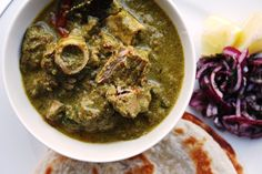 Parsi-Dahi-nu-Gosht -Lamb curry cooked in chillies, green coriander & yoghurt