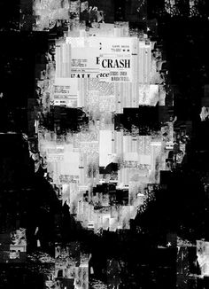 You are not in the news (by Sergio Albiac)  Generative portrait. Collage  facebook