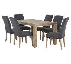 Toronto 7 Piece Dining Set with Parker Chair