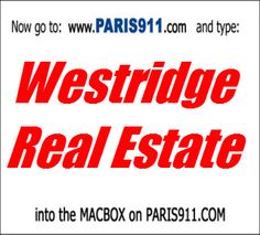 Access point for the Westridge area of Valencia CA Multiple Listing Service