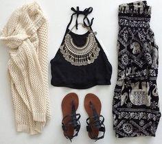 pants black white elephant tribal pattern cute pretty boho chic boho dress chic summer top top jewels shoes cardigan summer outfits