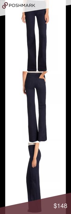 "J BRAND Tailored High Rise Flare Jeans 28 Inkwell NWT $198 J BRAND Tailored High Rise Flare Jeans in Inkwell Size 28 tailored high-rise flare with modern trouser details and the popular Maria fit featuring a high waist and elongated leg. A flat front design with tailored waistband and hem, this pant is finished with an updated blind stitch, tonal threading, and black zinc hardware.   Measures 31"" waist,  11"" front rise, 14-1/2 back rise, 36"" inseam, 22"" leg opening 92% Cotton 6%…"