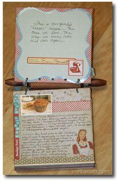 Great recipe book idea!