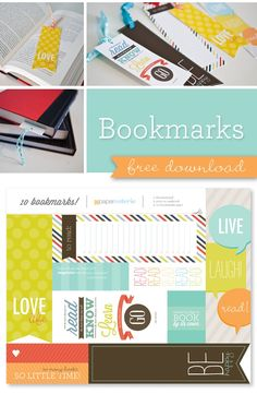 free printable bookmarks - from paper coterie http://www.papercoterie.com/blog/a-good-read-a-cute-bookmark/