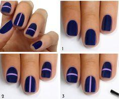 diseños faciles para uñas