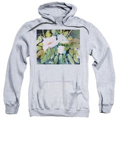 Wild Roses Sweatshirt featuring the painting Wild Roses by Sabina Von Arx Tempe Town Lake, Bettie Page, Pink Blossom, Black Abstract, Hoodies, Sweatshirts, Toms, Graphic Sweatshirt, T Shirts For Women