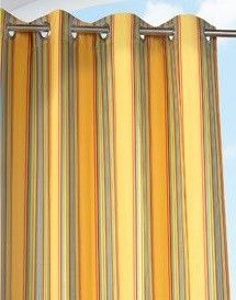 Rainbow Yellow Outdoor Curtain Panel by Commonwealth