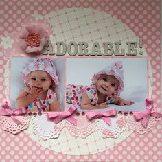 Dorable Scrapbook Page Ideas Adorable Ba Girl Layout Eclipse 2017 Ideas Pinte intended for Dorable Scrapbook Page Ideas Scrapbook Bebe, Baby Girl Scrapbook, Paper Bag Scrapbook, Album Scrapbook, Baby Scrapbook Pages, Scrapbook Designs, Scrapbook Sketches, Scrapbook Page Layouts, Scrapbooking Ideas