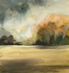 Autumn Day No. 2 Landscape painting Archival reproduction of my original painting (the original has been sold). The colors of the hillsides