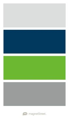 Silver, Navy, Kiwi, and Classic Gray Wedding Color Palette - custom color palette created at MagnetStreet.com