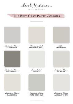 The Best Gray Paint Colors Interior Paint Colors For Living Room, Best Interior Paint, Room Paint Colors, Paint Colors For Home, Home Interior, Wall Colors, House Colors, Interior Painting, Interior Design