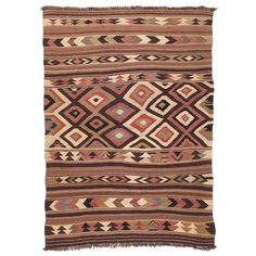 Antique Bowlan Kilim | From a unique collection of antique and modern persian rugs at https://www.1stdibs.com/furniture/rugs-carpets/persian-rugs/