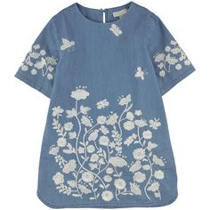 Stella Mac Cartney Kids  Flower and butterfly embroideries on the front and on the sleeves. - 110,00 €