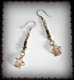 Christmas Bauble Earrings With Stars