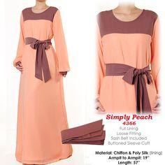 Pastel Tone Chiffon Belted Islamic Abaya Long by MissMode21, $34.00